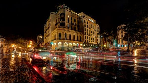 Rainy night in Havana